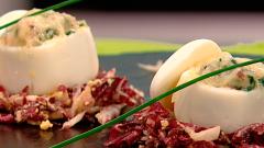 Cocina con Sergio - Huevos rellenos gratinados