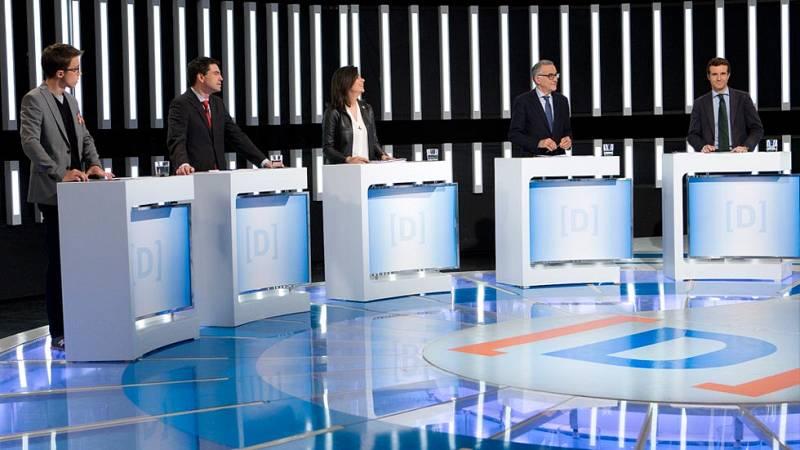 Minuto final de los portavoces de los partidos del debate a nueve