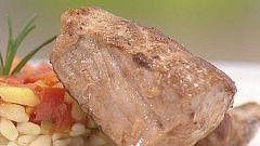 Cocina con Sergio - Pisto con trigo tierno y medallón de solomillo