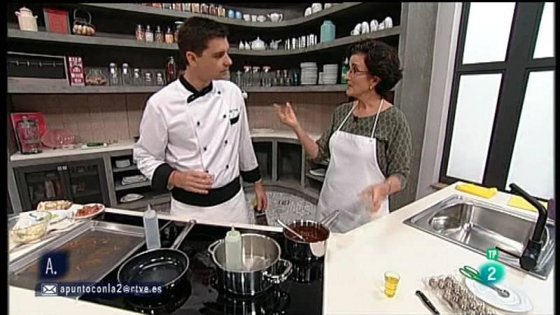 A punto con La 2 - Cocina a punto con Sergio Fernández: Carpaccio de alcachofas con caviar de lima