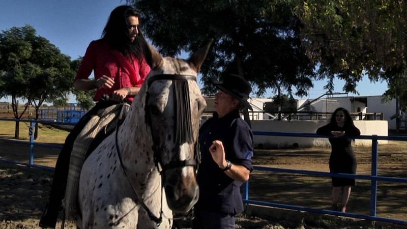 "Mario Vaquerizo, a caballo: ""Olvi, ya soy un hombre de verdad"""