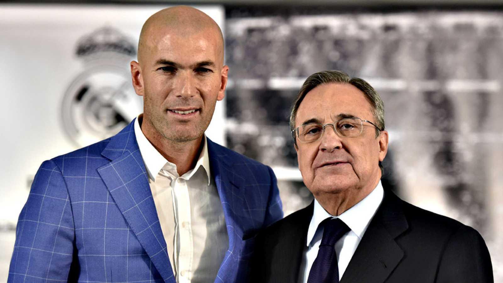 Fútbol Real Madrid Zidane Llega Al Banquillo Del Real Madrid Con Más Emoción Que Cuando Firmó Como Jugador Rtve Es