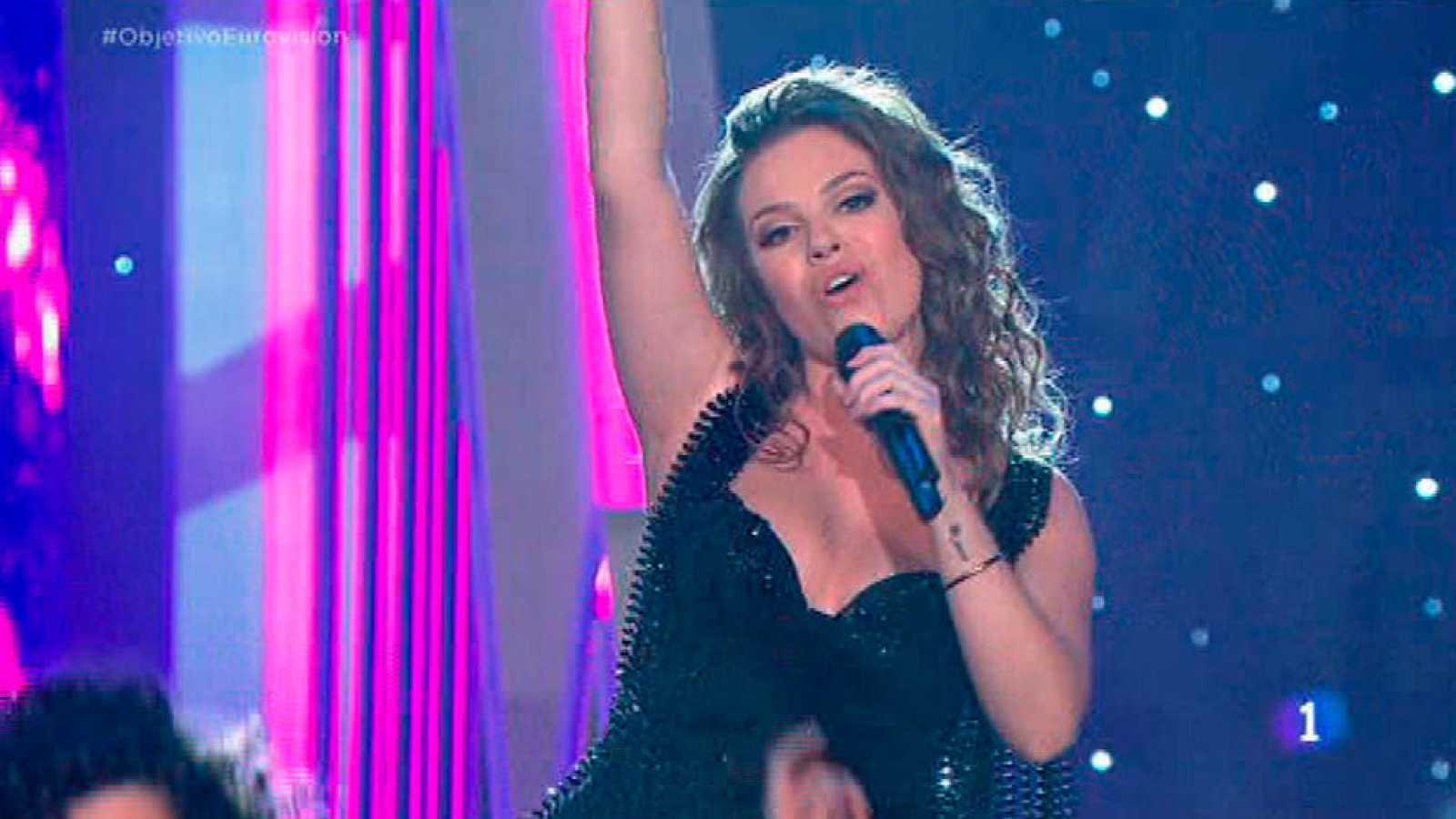 """María Isabel canta """"La vida solo es una"""" en Objetivo Eurovisión"""
