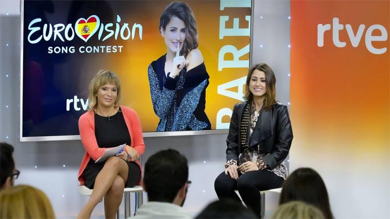 Eurovisión 2016 - Primera rueda de prensa de Barei como representante de España en Eurovisión