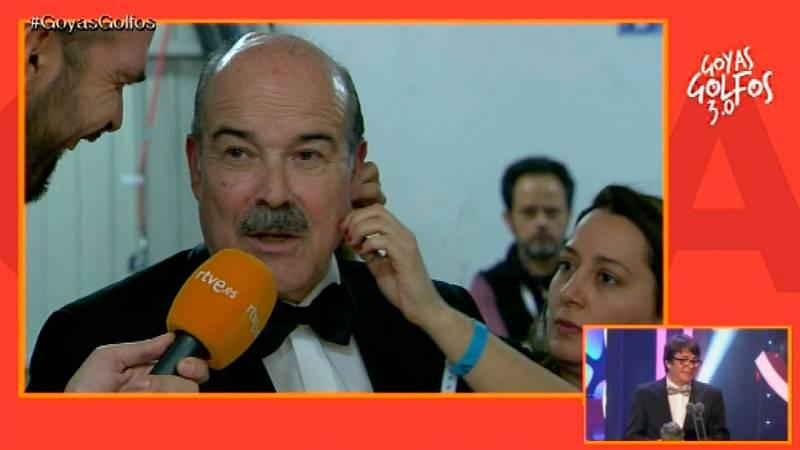 """Goyas Golfos 2016 - Antonio Resines: """"Es todo un sueño, tengo una costumbre acojonante"""""""