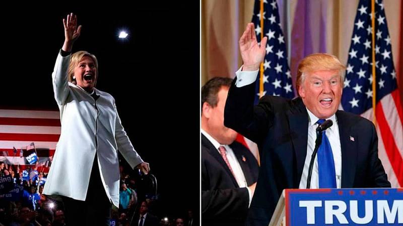 Trump y Clinton se alzan victoriosos en el supermartes, pero Cruz y Sanders aún resisten