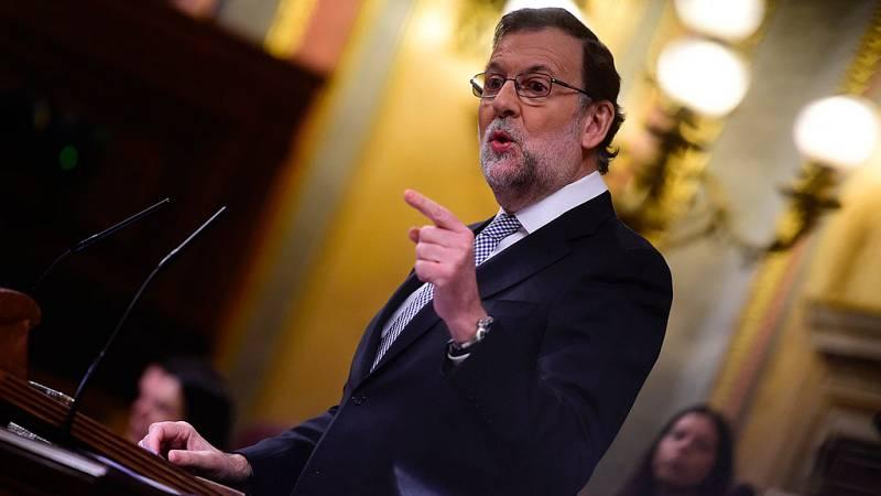 """Rajoy califica de """"fraude"""" la investidura de Sánchez y le acusa de engañar al rey y a los españoles"""