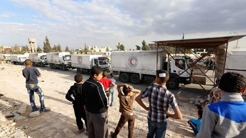La tregua en Siria facilita el reparto de productos de primera necesidad