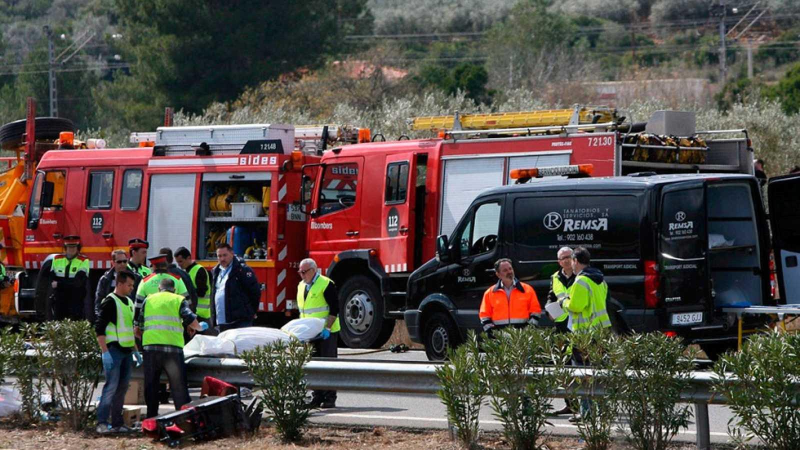 24 personas siguen ingresadas por el accidente del autobús en la AP-7