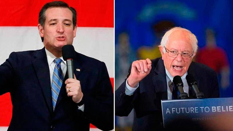 Ted Cruz y Bernie Sanders sorprenden en Wisconsin