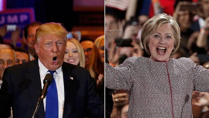 Trump y Clinton hacen valer su condición de favoritos y se llevan las primarias de Nueva York