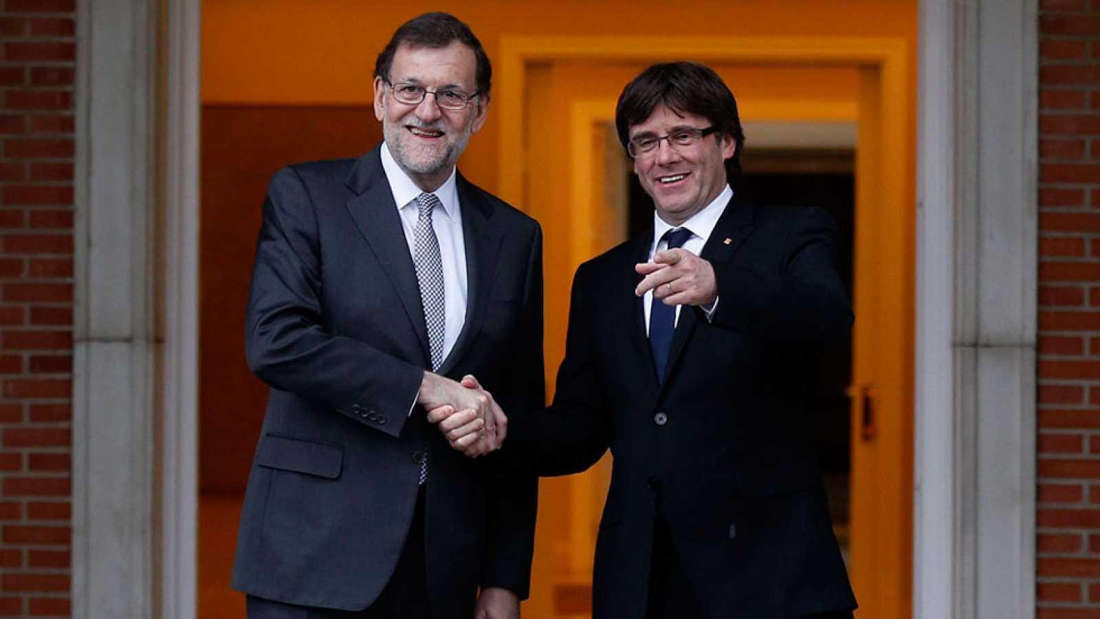 Puigdemont pide el referéndum y Rajoy le advierte de que sin ley no hay democracia