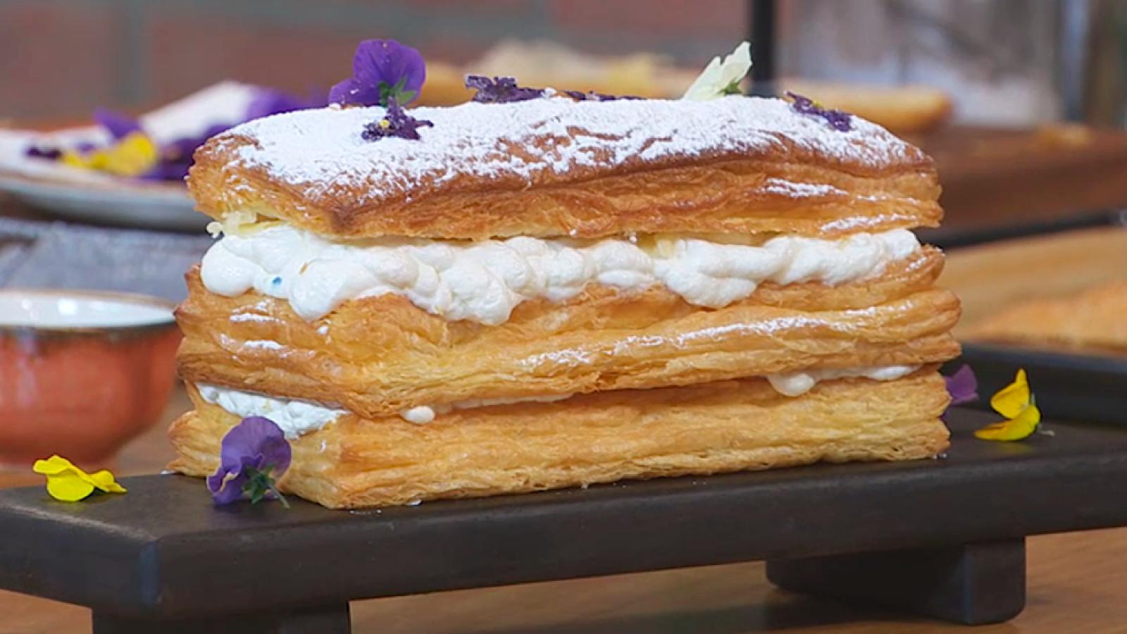Torres en la cocina - Milhojas con violetas