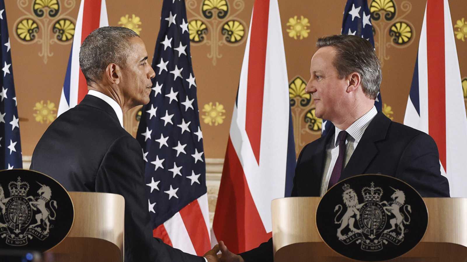 Obama llega a Londres para una visita oficial de tres días