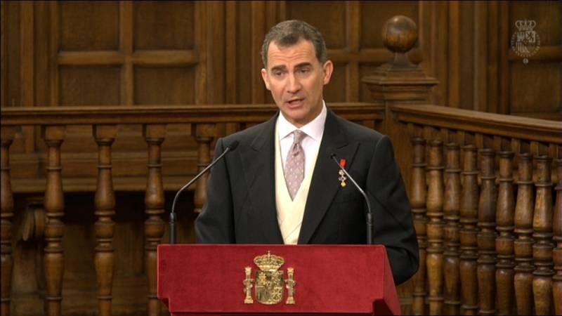 Discurso íntegro del rey Felipe VI durante la entrega del Premio Cervantes a Fernando del Paso