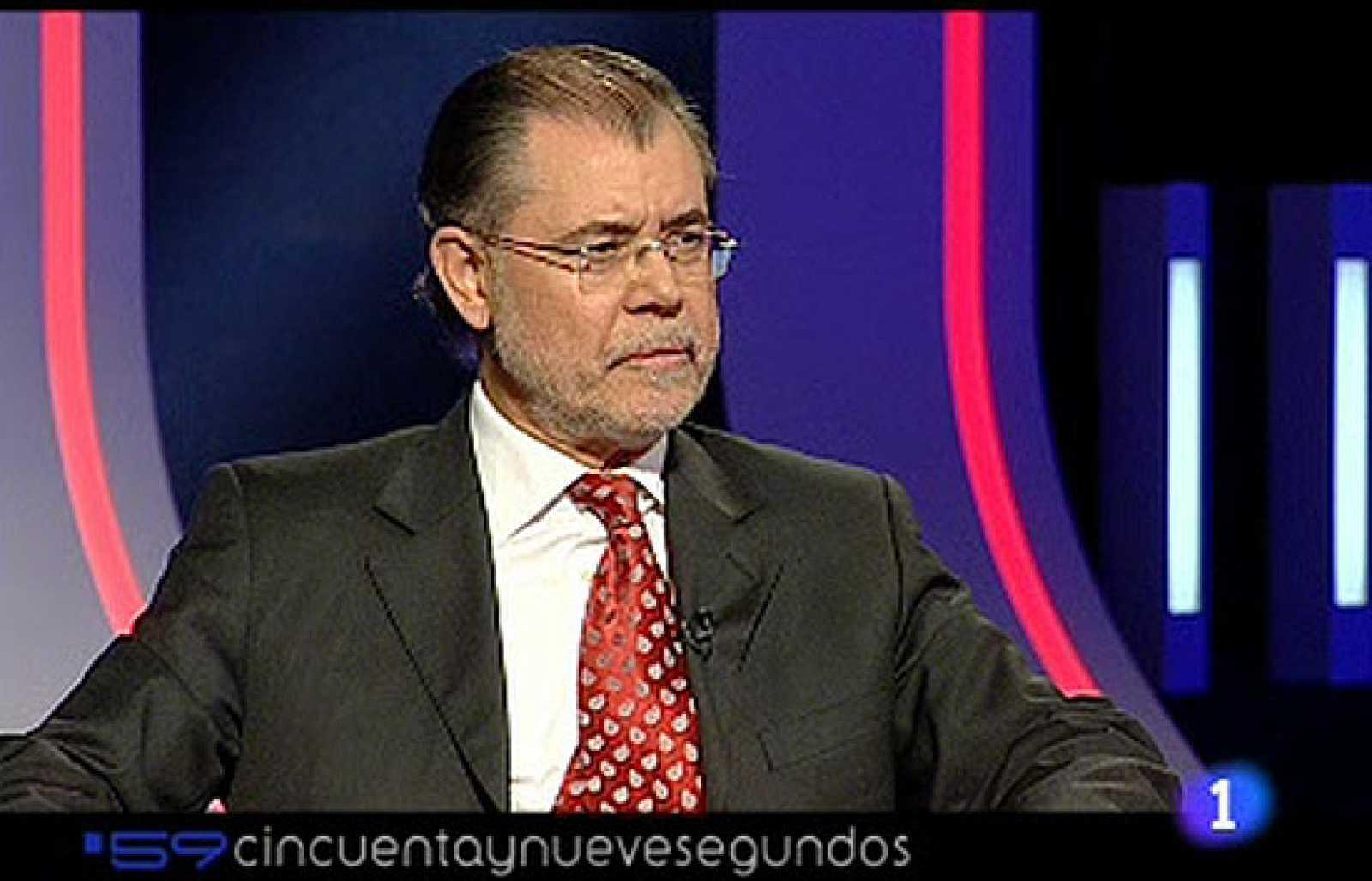 """El ministro de Justicia, Mariano Fernández Bermejo, ha sido entrevistado en el programa de TVE """"59 segundos"""" donde ha hablado de la presencia de ANV en los ayuntamientos vascos."""