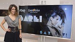 Eurovisión 2016 - Rueda de prensa de Barei antes de partir rumbo a Estocolmo