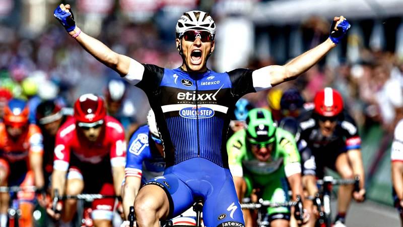 El alemán Marcel Kittel (Etixx-Quick-Step) se ha llevado la  victoria este sábado en la segunda etapa del Giro de Italia, primera  'grande' de la temporada, después de imponerse al sprint tras los 190  kilómetros de recorrido entre las localidades ho