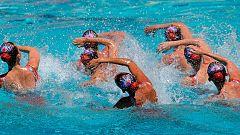 El equipo español de sincronizada, tercero en la preliminar del Europeo
