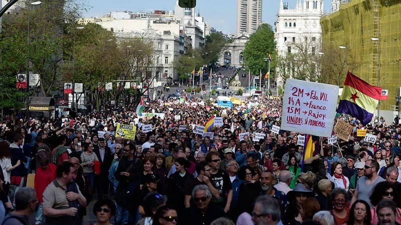 Vuelven los manifestantes a Sol en el quinto aniversario del 15M