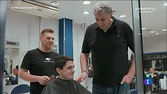 Trabajo Temporal - Fernando Romay corta pelo en su primer día