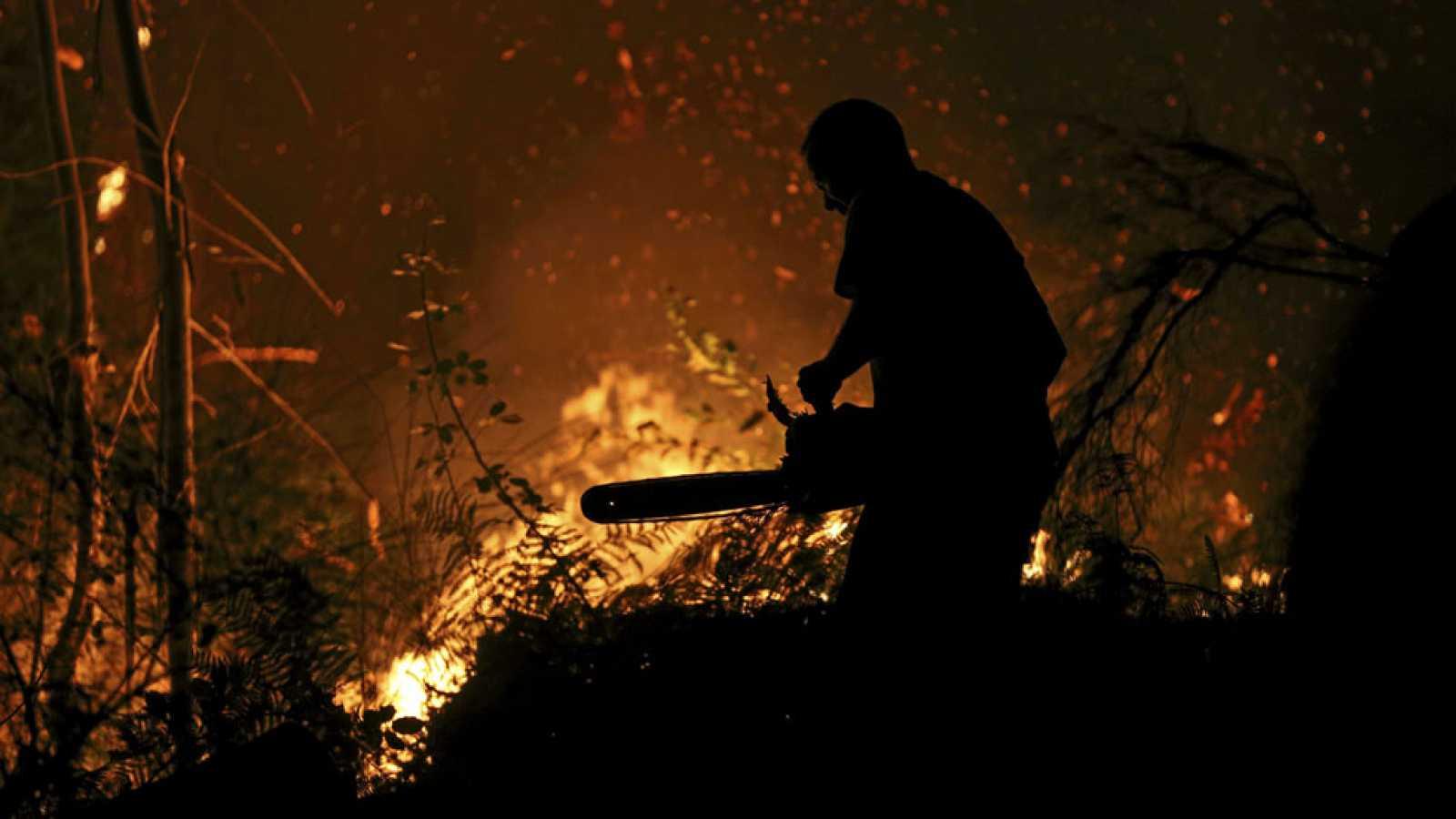 Galicia lucha contra una oleada de incendios, la mayoría intencionados
