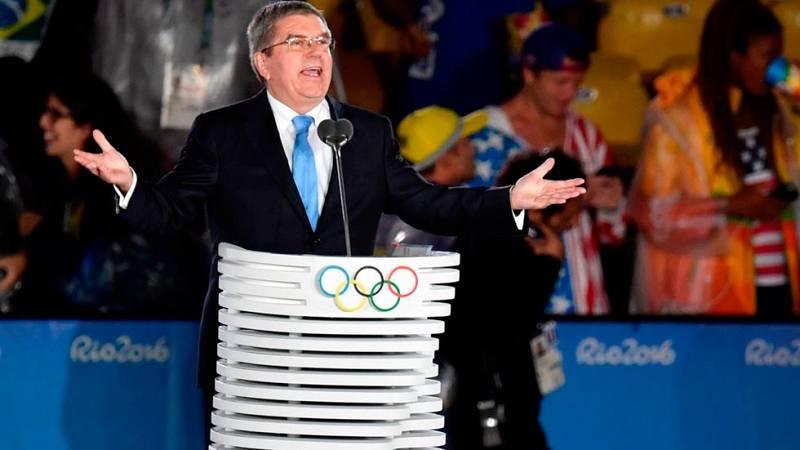 Río 2016. El presidente del COI clausura los Juegos