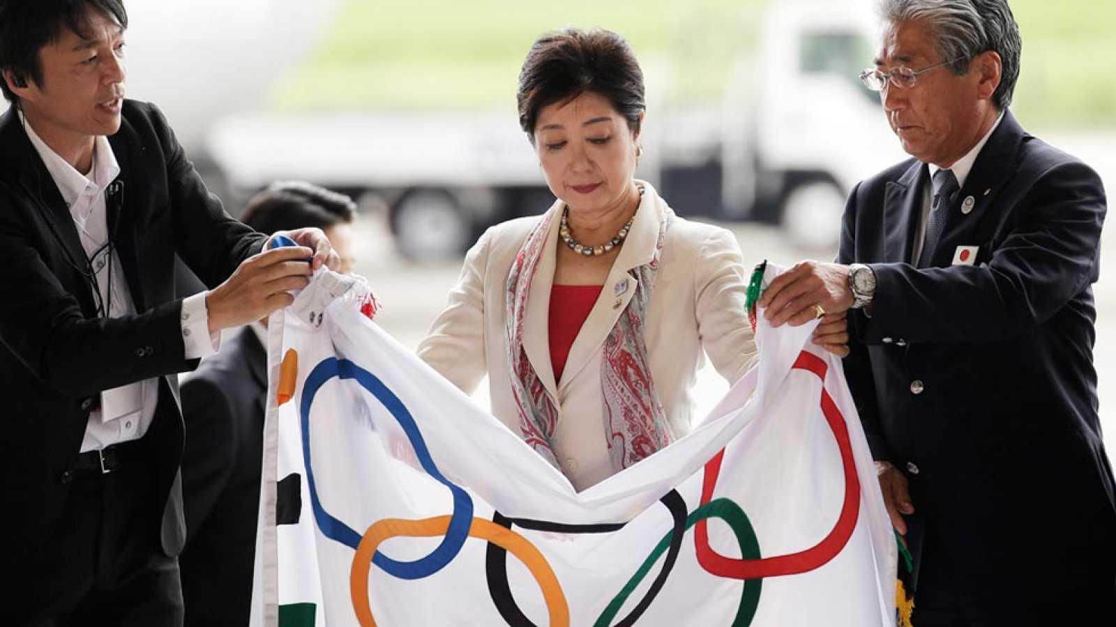 La bandera olímpica llega a Tokio