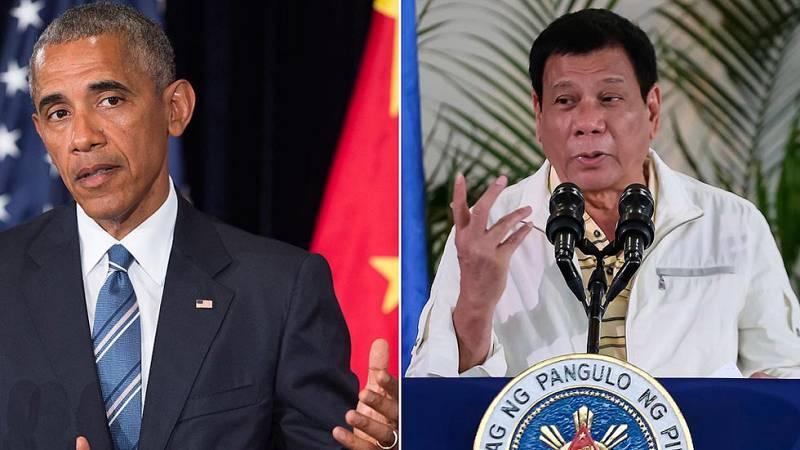 """Obama cancela su reunión con el presidente de Filipinas después de que le llamara """"hijo de puta"""""""