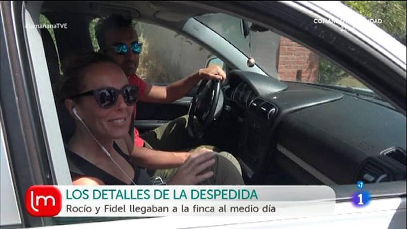 Rocio Carrasco llega a la finca donde celebrará su boda