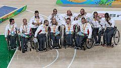 España logra una plata con sabor a oro en baloncesto en silla