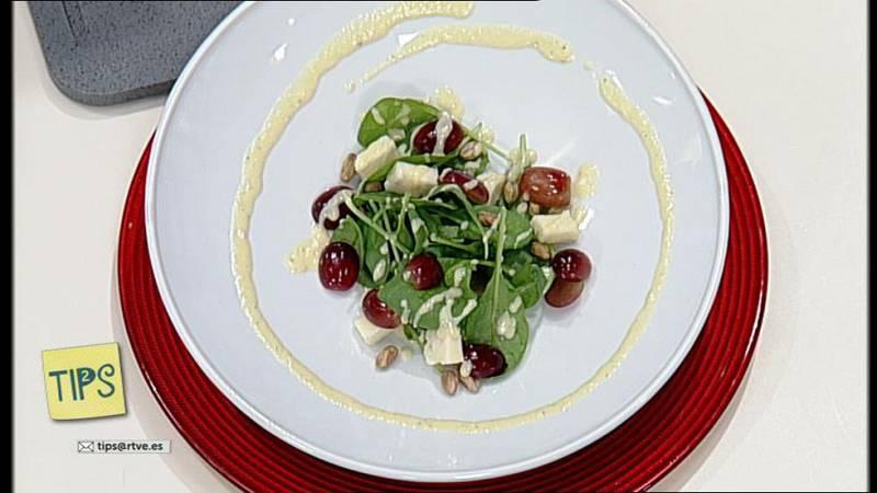 TIPS - Cocina - Ensalada de espinacas con melocotón