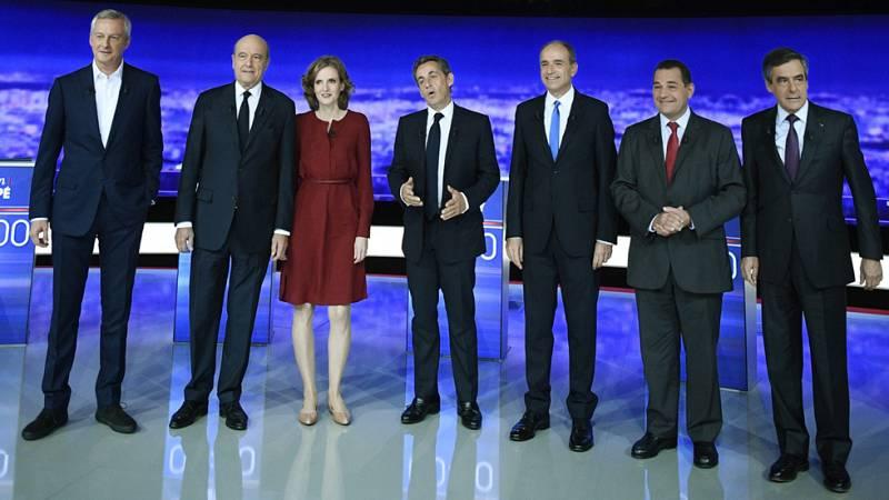 Sarkozy, blanco de las críticas de sus rivales en el primer debate de las primarias del centro-derecha