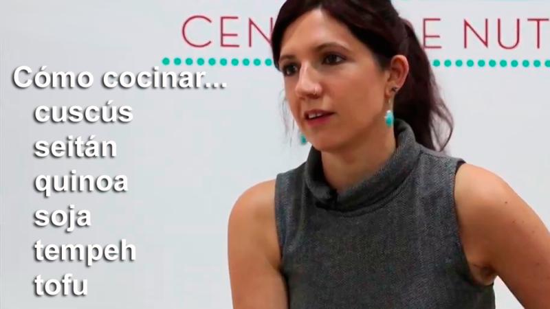 Lucía Martínez - Aprende cómo cocinar cuscús, quinoa, seitán, tofu, soja o tempeh