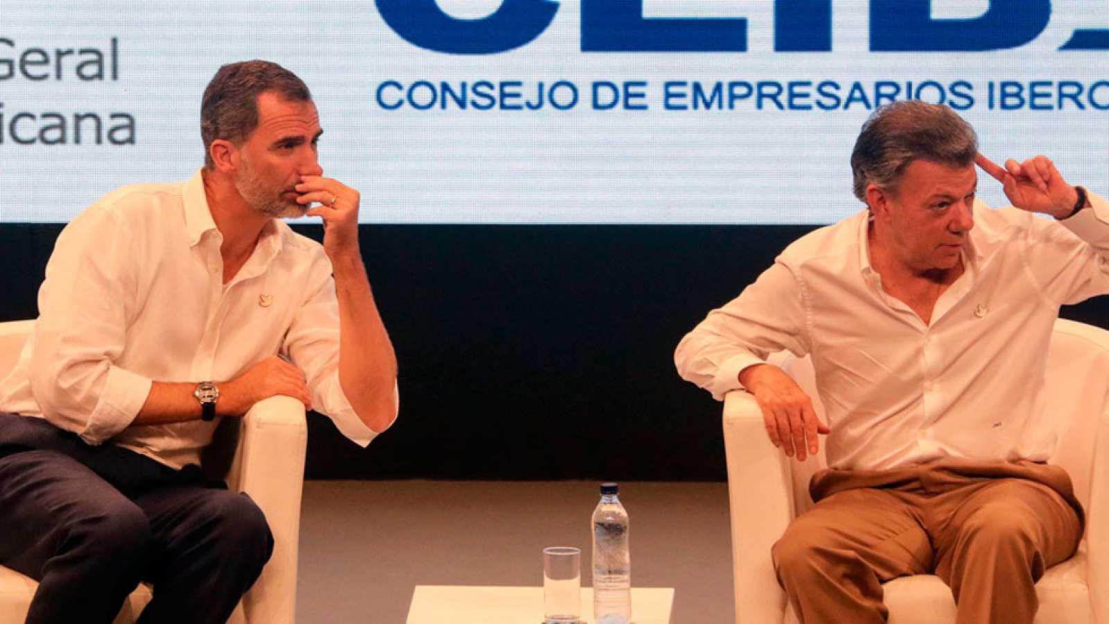 El rey reitera el apoyo de España al proceso de paz de Colombia