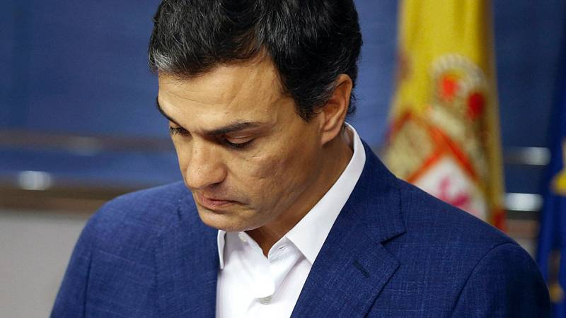 Pedro Sánchez anuncia su renuncia al acta de diputado