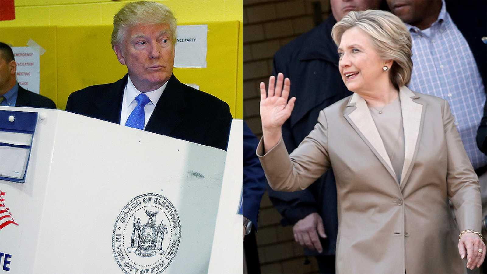 Elecciones EE.UU. 2016: Clinton vota entre aplausos y Trump, que recibe abucheos, denuncia fraude