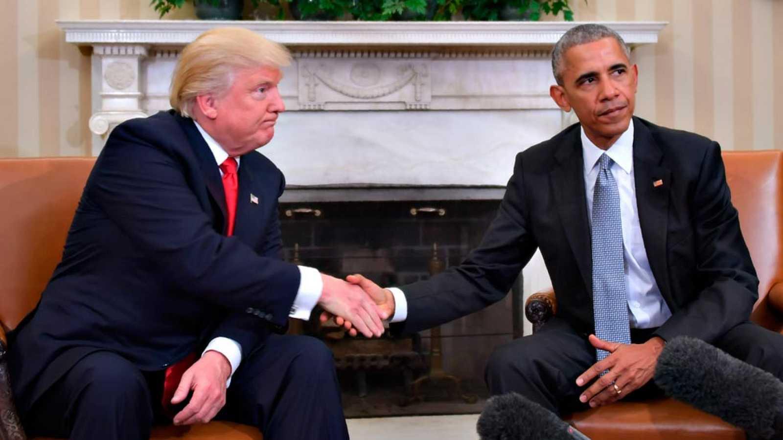 Primer encuentro entre Trump y Obama para el traspaso de poderes en EE.UU.