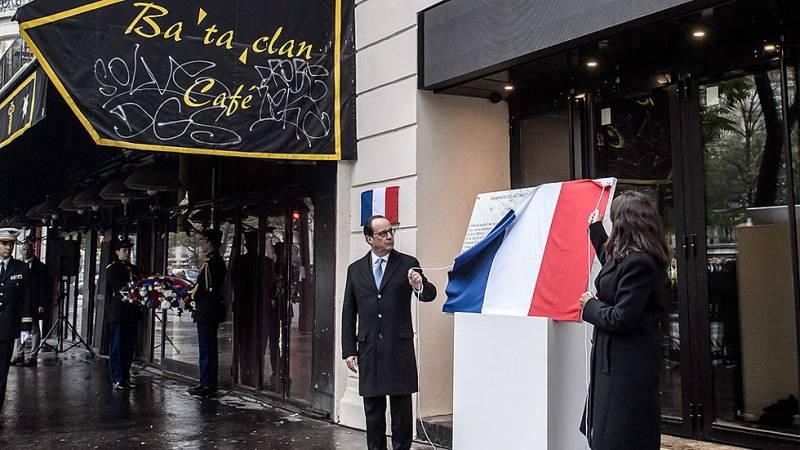 Hollande preside los homenajes a las víctimas en el primer aniversario de los atentados de París