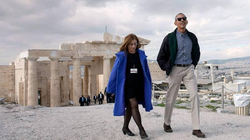 Obama reivindica en Atenas la democracia 'aunque a veces sea complicada'