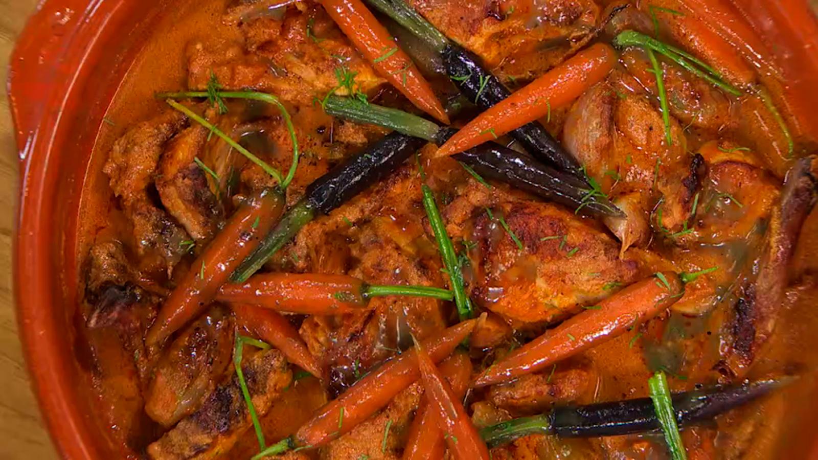 Receta de conejo asado con zanahorias