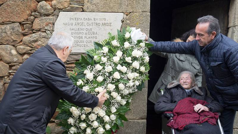 Homenajes en el pueblo gallego donde nació el padre de Fidel Castro