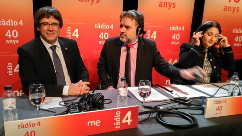 40 anys Ràdio 4 - Entrevista a Carles Puigdemont