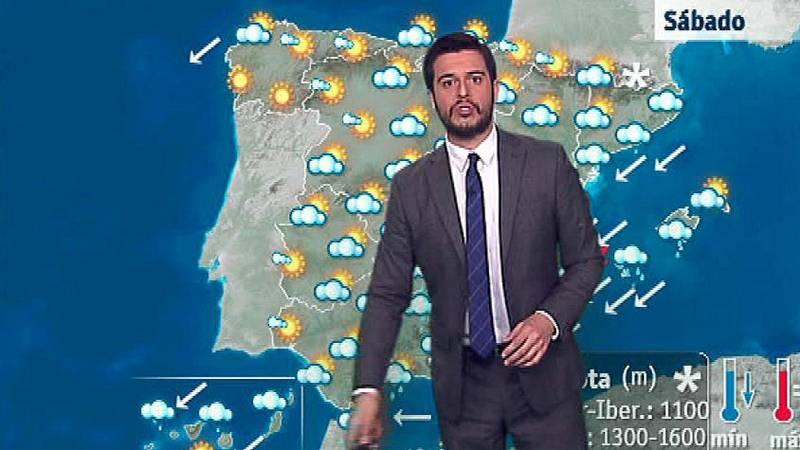 Lluvias persistentes y localmente fuertes en la mayor parte de España