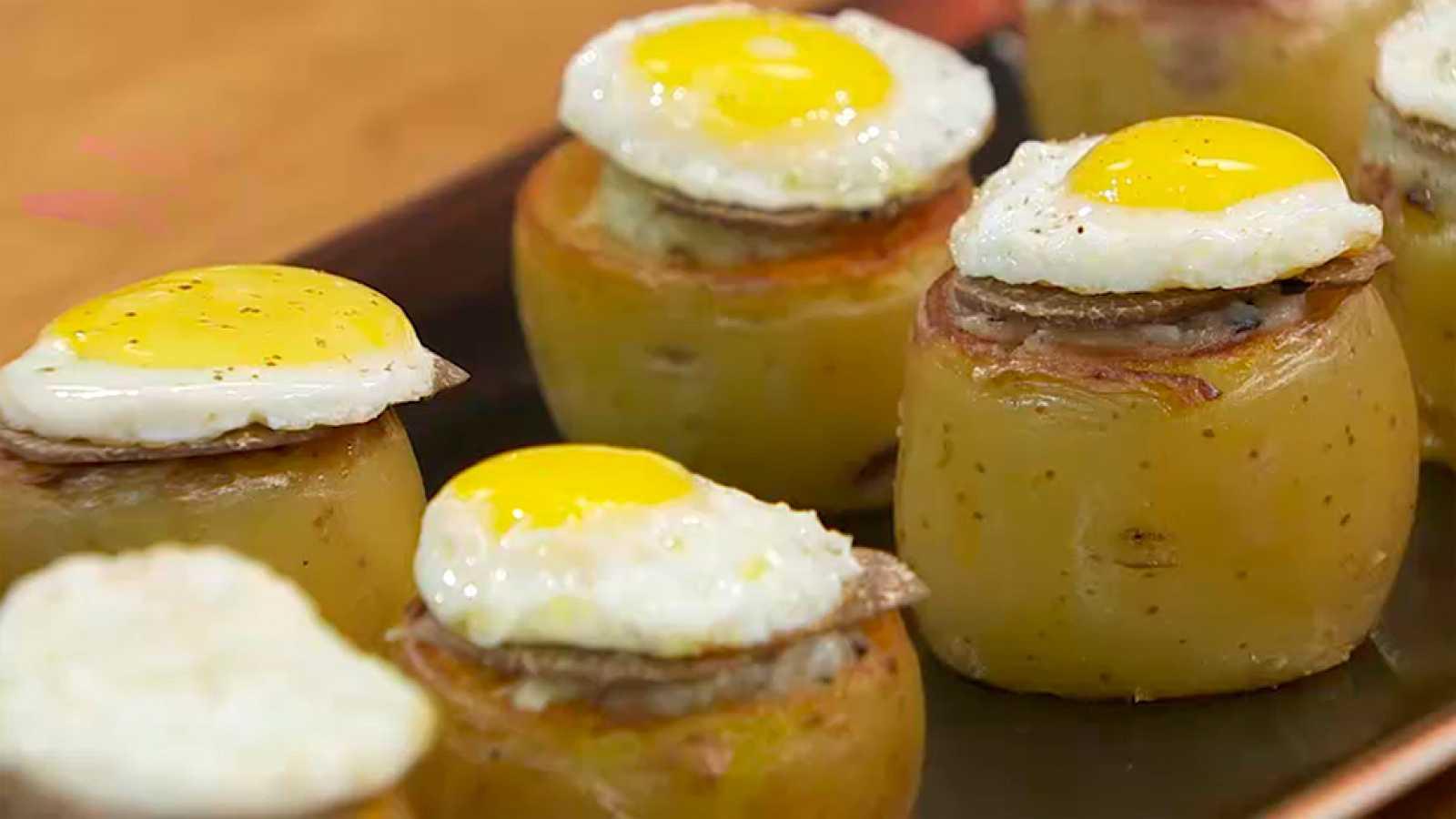 Receta de patata rellena de trufa