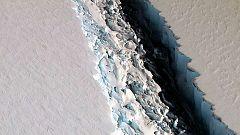 Un iceberg de unos 5.000 kilómetros cuadrados, a punto de desprenderse de la Antártida