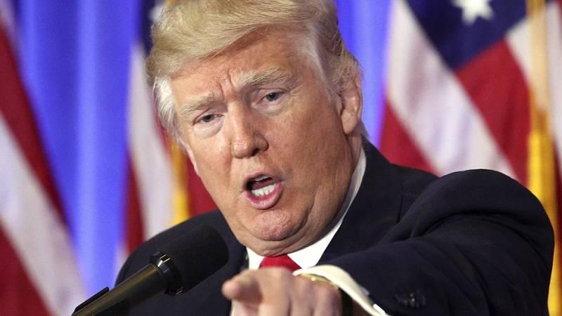 """Trump reparte culpas por los ciberataques en su primera aparición y dice que Rusia respetará a EE.UU. """"mucho más"""" con él"""