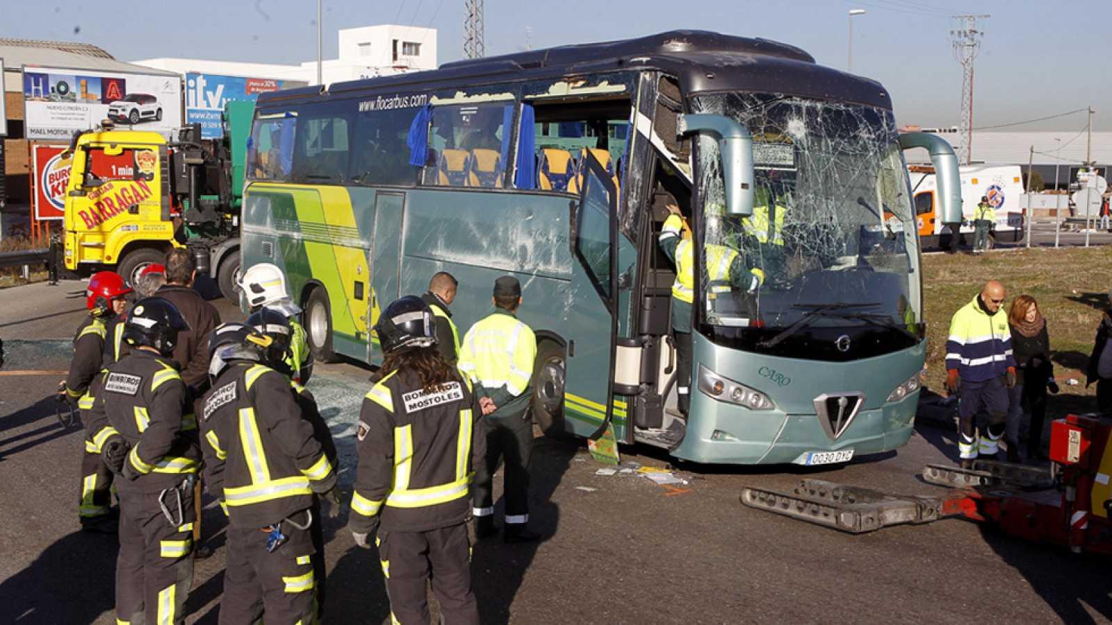 La investigación confirma que el conductor del autobús escolar volcado en Fuenlabrada iba drogado