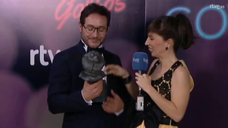 Goyas Golfos 2017 - Carlos Santos se acuerda de su hermana al recibir el Goya