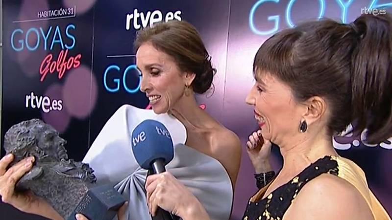 Goyas Golfos 2017 - Ana Belén encantada con el Goya de Honor